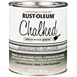 Rust-Oleum 315883 Chalked Decorative Glaze, 30oz, Semi-Transparent Smoked