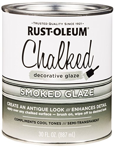 Transparent Antique (Rust-Oleum 315883 Chalked Decorative Glaze, 30oz, Semi-Transparent Smoked)