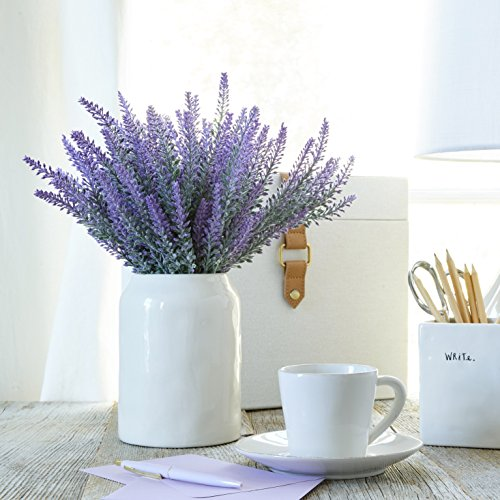 Artificial Lavender Flowers large pieces to make a bountiful flower arrangement nearly natural fake plant to brighten up your home party and wedding decor