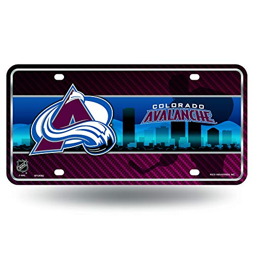 NHL Colorado Avalanche Metal License Plate Tag