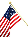 100 % MADE IN THE USA US Flag SEASONAL DESIGNS Deluxe Telescopic Flag Pole
