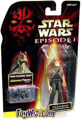 Star Wars Episode I with CommTech Chip - Jar Jar (Star Wars Figure Commtech Chip)