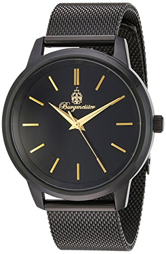 Burgmeister Women's Quartz Stainless Steel Casual Watch, Color:Black (Model: BMS02-622)