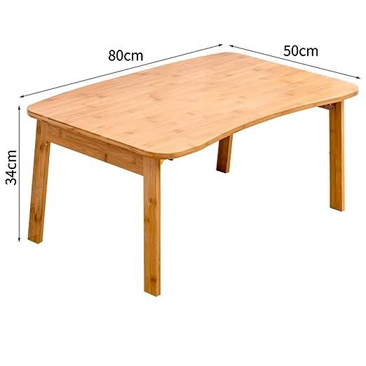 Xyanzi mesas Plegables Mesa de Bambú for Computadora Portátil ...