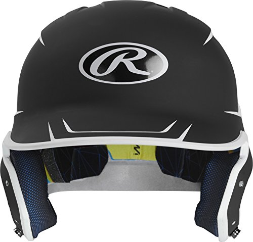 Rawlings MACH-B7/W7-JR 2019 Mach Baseball Batting Helmet, Black/White ()