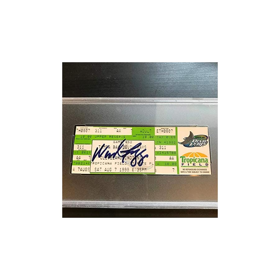 Wade Boggs 3000th Hit Signed Ticket August 7, 1999 PSA DNA COA Auto