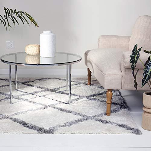 "Home Dynamix SoHome Carmela Tali Shag Modern Area Rug, Geometric Ivory/Gray 7'10""x10'2"" from Home Dynamix"