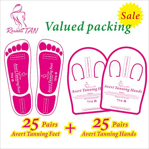 Valued packing 25+25 Pairs (Feet 25 +Hands 25) Pink Spray Tanning Feet(Hands) Stick Pads; Avert Tanning Feet;Avert Tanning Hands