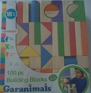 Garanimals 100 pc Building Blocks *Natural Wood* 18+Months