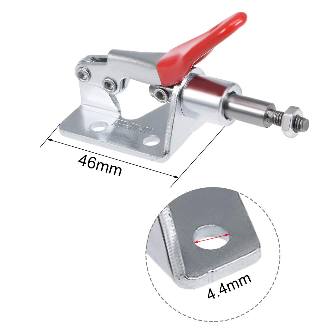 Red Uxcell 45Kg 99-Pound 301A Push Pull Toggle Clamp 16.7mm Plunger Stroke