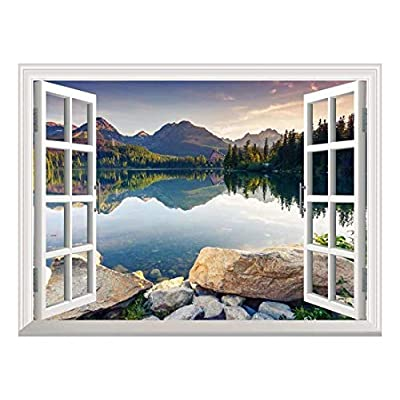 Removable Wall Sticker Wall Mural Peaceful Lake in...