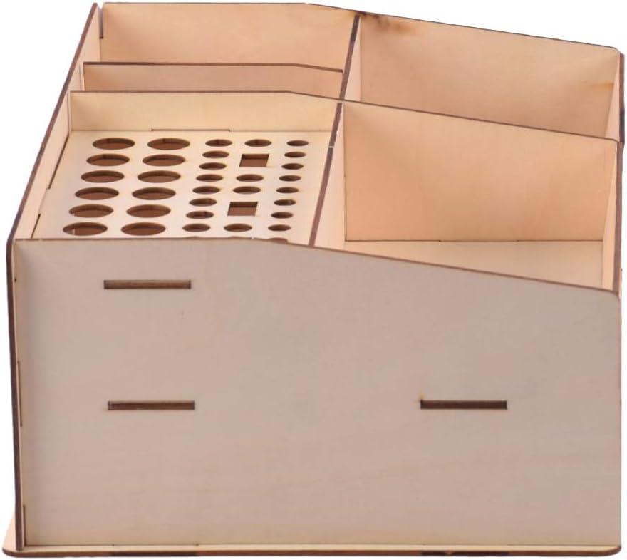 Amuzocity Soporte de Herramientas de Almacenamiento Modular Modelo de Estante de Botella de Pigmento de Pintura de Madera de 2 Piezas