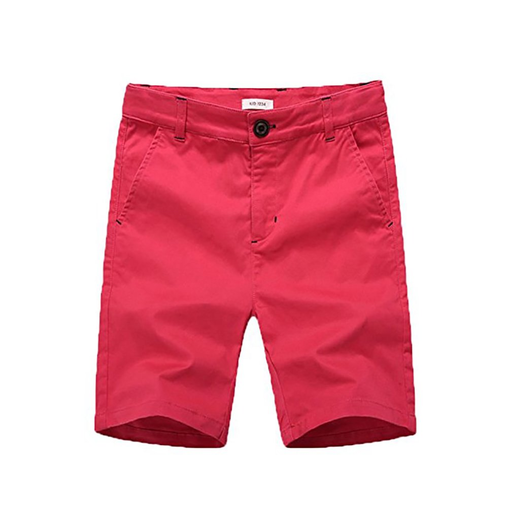 basadina Boys Shorts - Summer Chino Cotton Beach Shorts Fitted with Adjustable Waist,3-13 Years