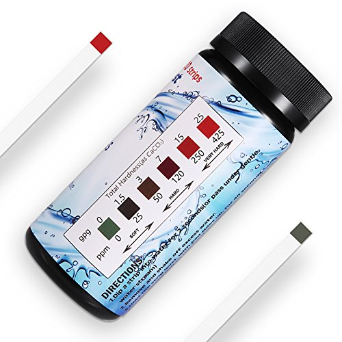 (Water Hardness Test Strips,Upgraded 100ct,0-425 mg/L, HoneForest Hard Water Test Kit, Testing Total Hardness of Water Softener, Drinking Water Quality, Pool Water,etc)