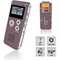 Digital Voice Recorder, eBoTrade Rechargeable 8GB Audio Voice Recorder/Dictaphone/MP3 Player Red