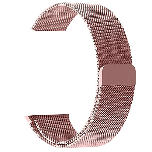 Price comparison product image OROBAY Replacement Band 38mm for Apple Watch, Stainless Steel Mesh Loop Magnetic Closure Clasp Apple Watch Wristband Strap for Apple iWatch Sports Edition (Rose Gold 38mm)