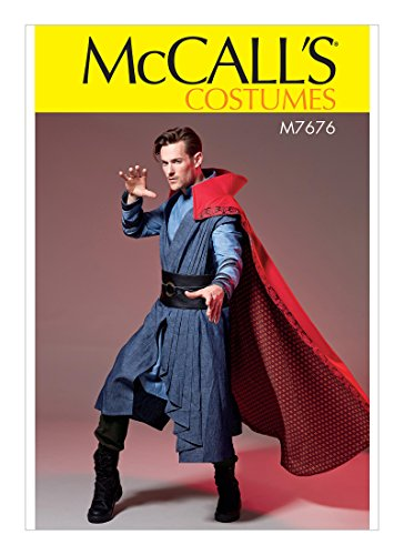 McCall's Patterns M7676 Men's Costume With Cloak, Vest, Tunic, and Belt SEWING PATTERN, Size S-XXL 7676 - Mccall's Costumes