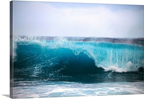 Tomas Del Amo Premium Thick-Wrap Canvas Wall Art Print entitled Hawaii, Oahu, Beautiful Wave Breaking by Canvas on Demand