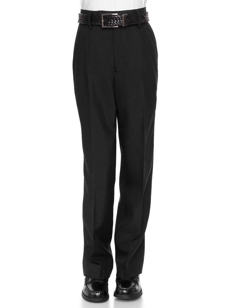 RGM Boys Dress Pants Flat-Front - Slim fit Dress Slacks 100% Dacron Black 14