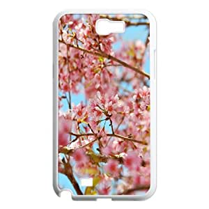 Cherry Blossons Samsung Galaxy Note 2 Cases, Vety {White}