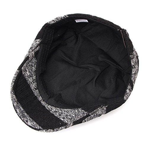 Otoño tapas Visor caps Los de Sombreros hombres Halloween tejidas sombreros sombreros Navidad caliente rayas Sombreros MASTER claro Black invierno beanie Gris Aavx6