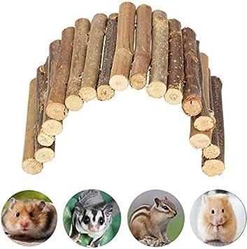 HEEPDD Escalera de Madera Hamster Chew Bridge Juguete Reptil Casa escondida Cerca Escalada Puente para Reptil Lagarto Tortuga Erizo Pequeño Animal Masticar Juguete (Small): Amazon.es: Productos para mascotas