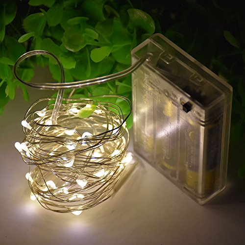 XFT-CK 3m/10FT 30 LEDs String Light With Battery Powered - Fairy Lights Starry Lights for Christmas Halloween Party Decoration(Warm White) -