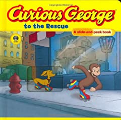 Curious George and his dog friend Hundley are eager to try out some new skates. Pull out the sliding panels to see George attempt a daring rollerskating rescue.