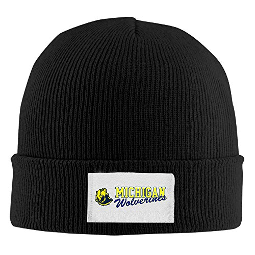Amone Michigan Wolverines Teame Winter Knitting Wool Warm Hat Black
