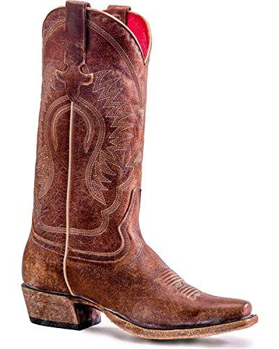 Macie Bean Womens Gringa Goes to Town Boot Snip Toe - M7508 Brown bjUtGqE