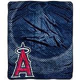 "MLB Licensed Anaheim Angels Royal Plush Raschel Fleece 50""x60"" Throw Blanket"