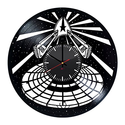 7 Of 9 Borg Costume (Star Trek Spaceship Vinyl Record Wall Clock - Get unique home room wall decor - Gift ideas for teens, boys and girls – Fantasy Film Unique Art)