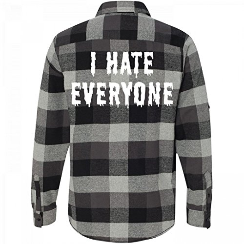 Grunge Flannel (Customized Girl I Hate Everyone Flannel: Unisex Plaid Flannel Shirt)