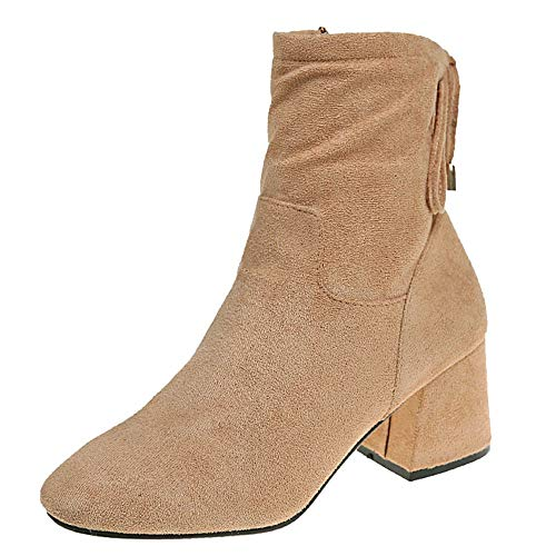 Duseedik Ankle Bootie, Martin Boots Single Boots Thick Short Boots High Heeled Women's Boots