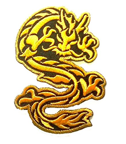 Dragon Patch of Applique Embroidered patches - Iron on Patches - Gold Dragon Patch by - Justin Brown Call