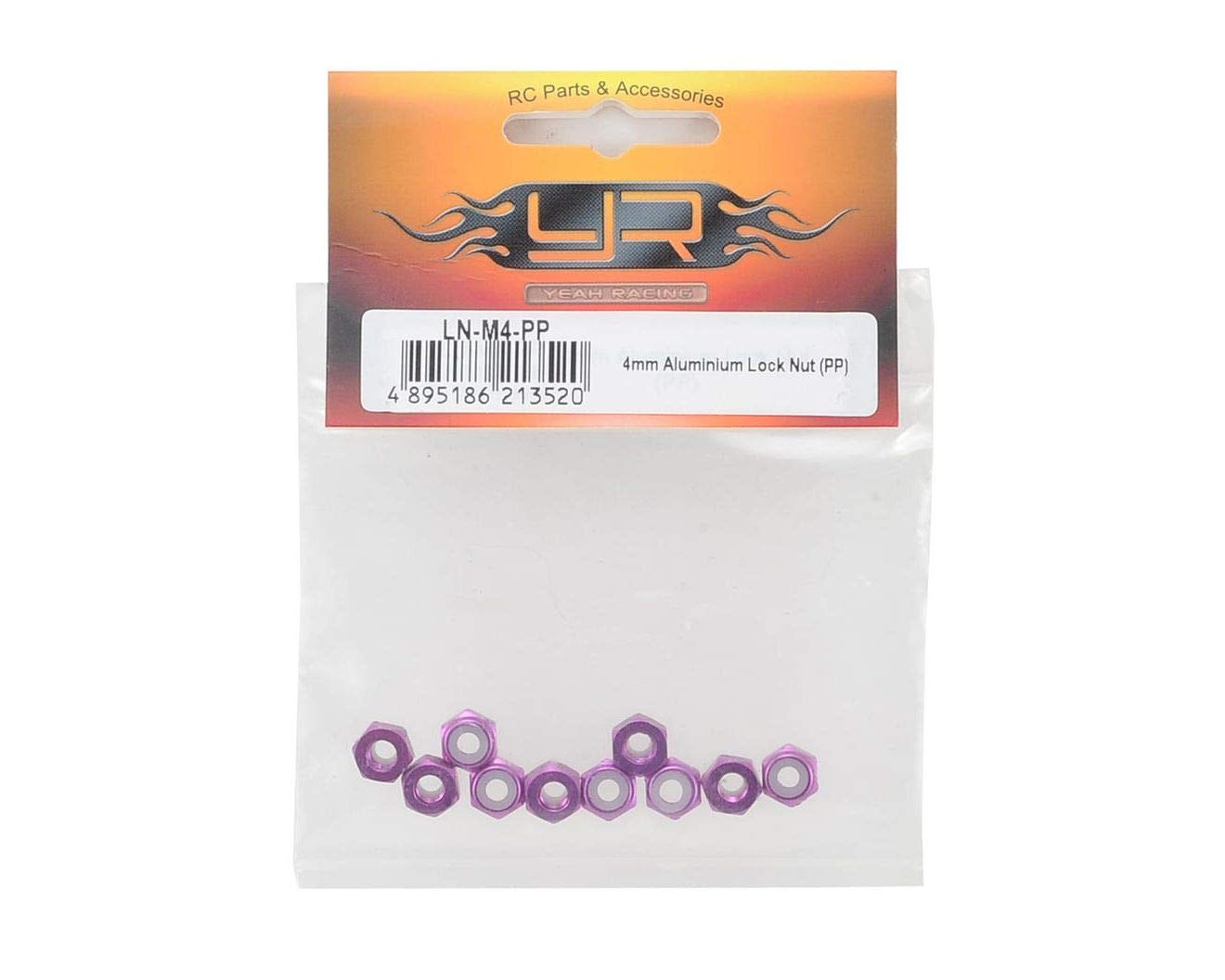 YEA-LN-M4-PP for 4mm Aluminum Lock Nut 10 YEALNM4PP Purple
