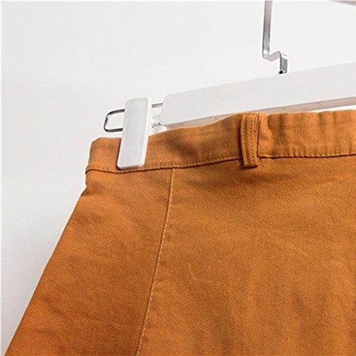 Jeans Estilo Coreano Falda Mujeres Puro Color Adeshop Moda Bot Cintura XxwBIwR4