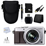 Panasonic LUMIX LX100 DMC-LX100 16.8 MP Point and Shoot Camera with Integrated Leica DC Lens (Silver) + 16GB Memory Card + Reader + Case & more