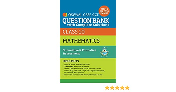 Oswaal CBSE CCE Question Bank With Complete Solutions For Class 10 ...