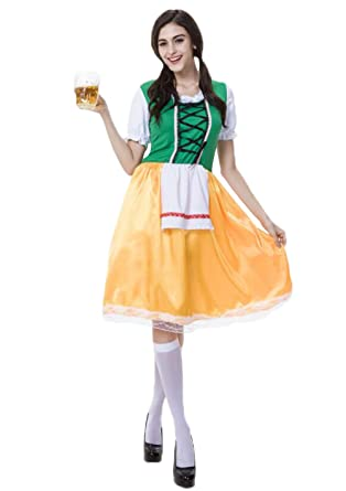 a0baf9c0e2f85 Amazon.com: JJ-GOGO Beer Wench Costume - Bavarian German Oktoberfest ...