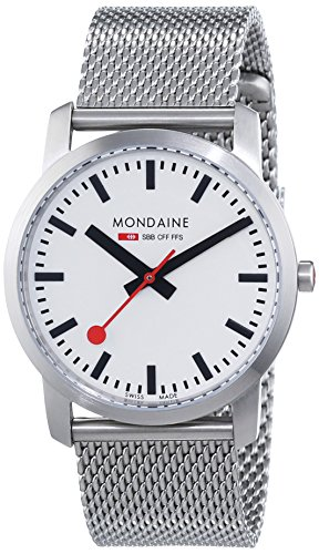 Amazon.com: Mondaine Womens A400.30351.16SBM SBB Analog Display Swiss Quartz Silver Watch: Mondaine: Watches