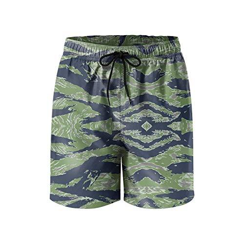 Finaif Mens Guys Tiger-Stripe-Camouflage- Swimming Trunks Fashion Skate Beach Shorts ()