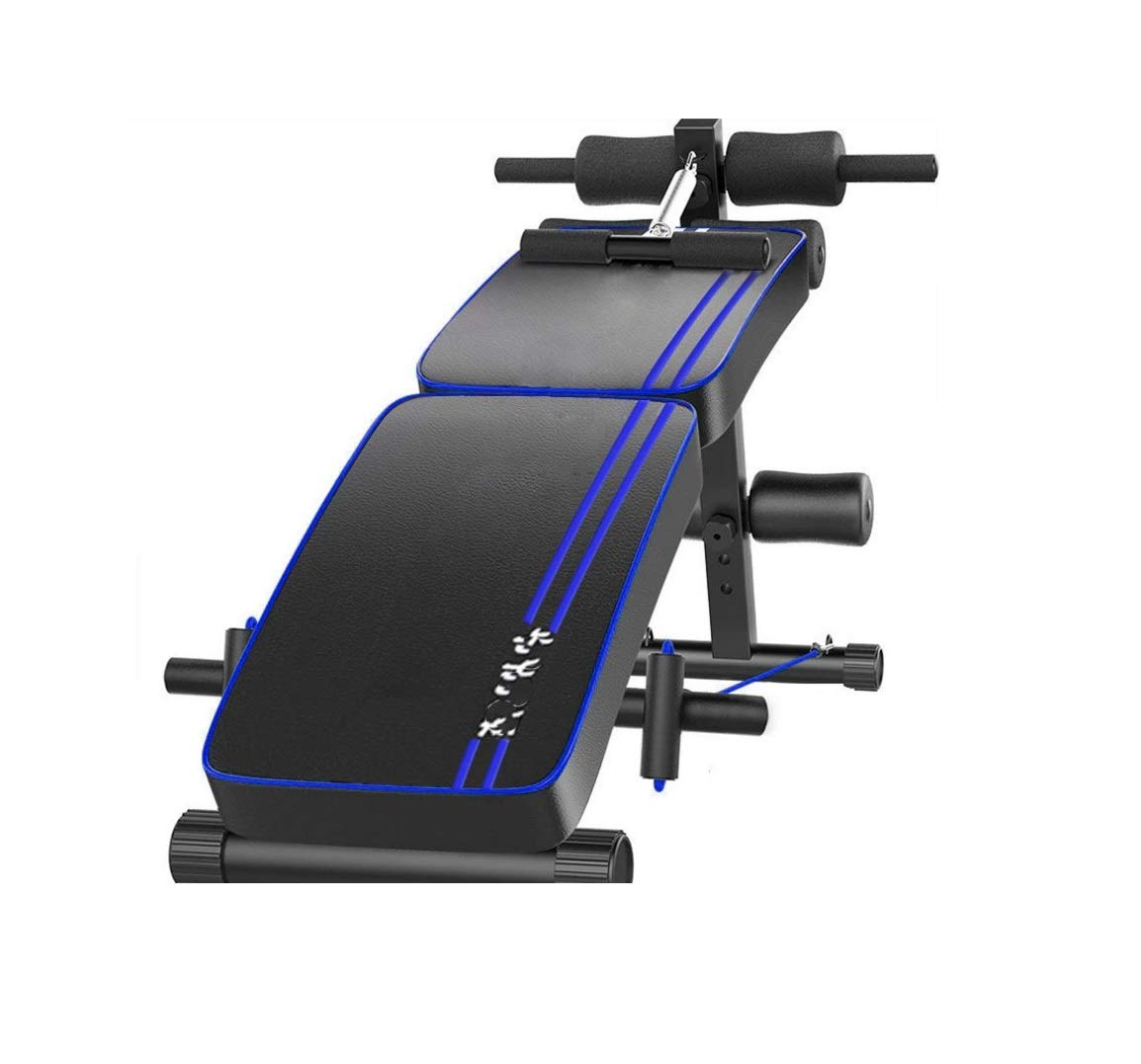GaoMiTA Supine Board Double Folding Safety and Comfort Home Multi-Function Board Men and Women Reduce Abdominal Abdomen Fitness Equipment