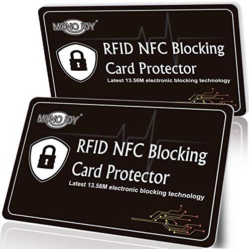 RFID Blocking Sleeves Card, Credit Card Passport Holder RFID Blcoking Protectors, RFID Signal Card Blocker RFID Sleeves, Fits All Card Holder Slots Wallet for Women/Men RFID Blocking (2 Pack)