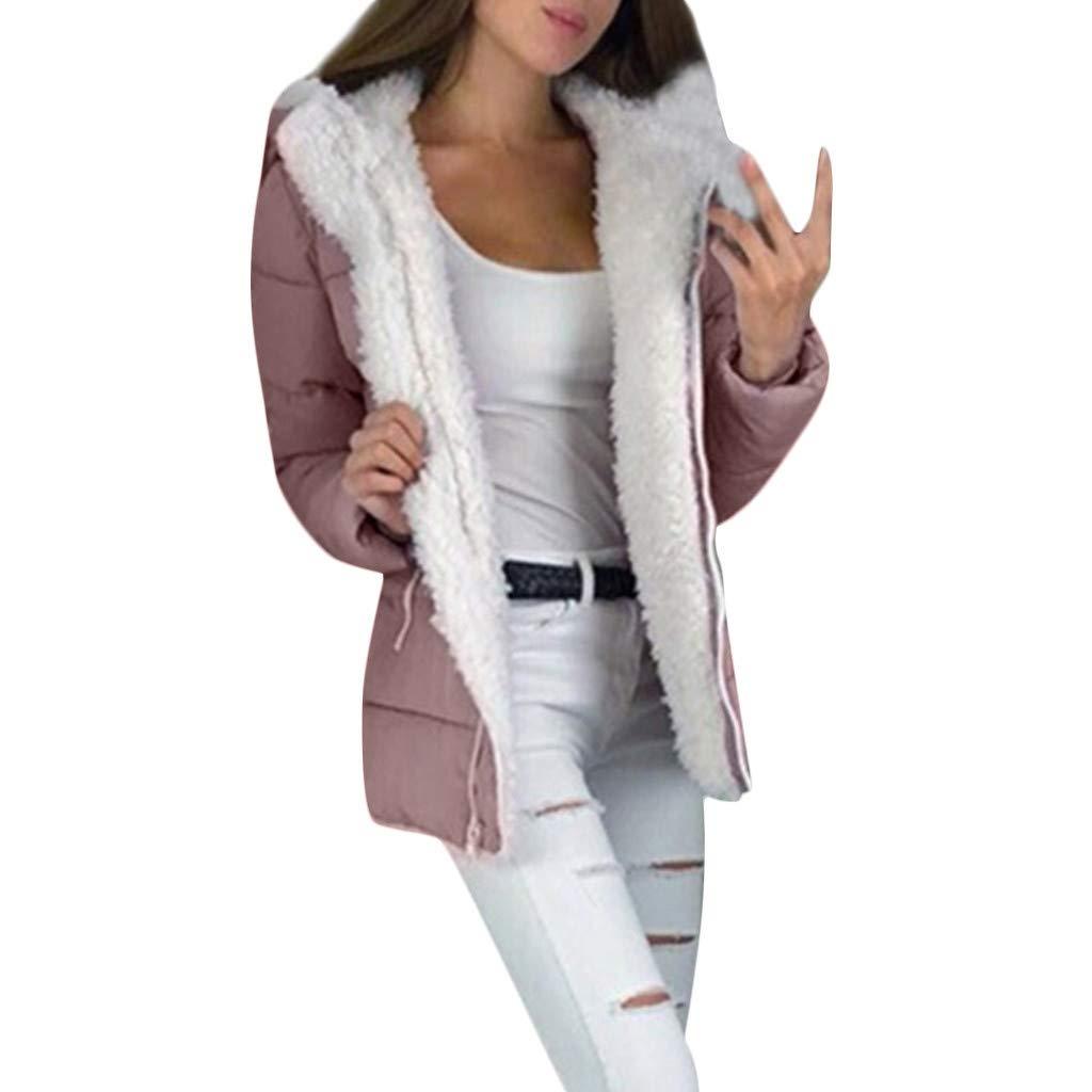 Xmiral Cappotto da Donna Cardigan Caldo Cappotto Invernale Giacca Outwear