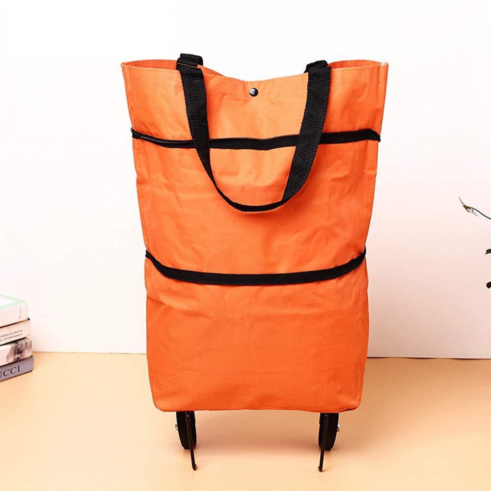 Carro Compra Shopping Trolley Bag Multifunci/ón port/átil Oxford Folable Tote Cesta de compra Bolsas de compra reutilizables con ruedas Carrito de compra de comestibles rodante Carro de Compras
