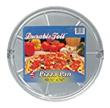 Durable Foil Round Pizza Pan, 12-1/4'' x 3/8'' (Pack of 24 Pans)