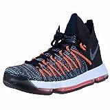 Nike Zoom KD9 Elite mens basketball-shoes 878637-010_13 - Black/White-Dark Grey-Hyper Orange