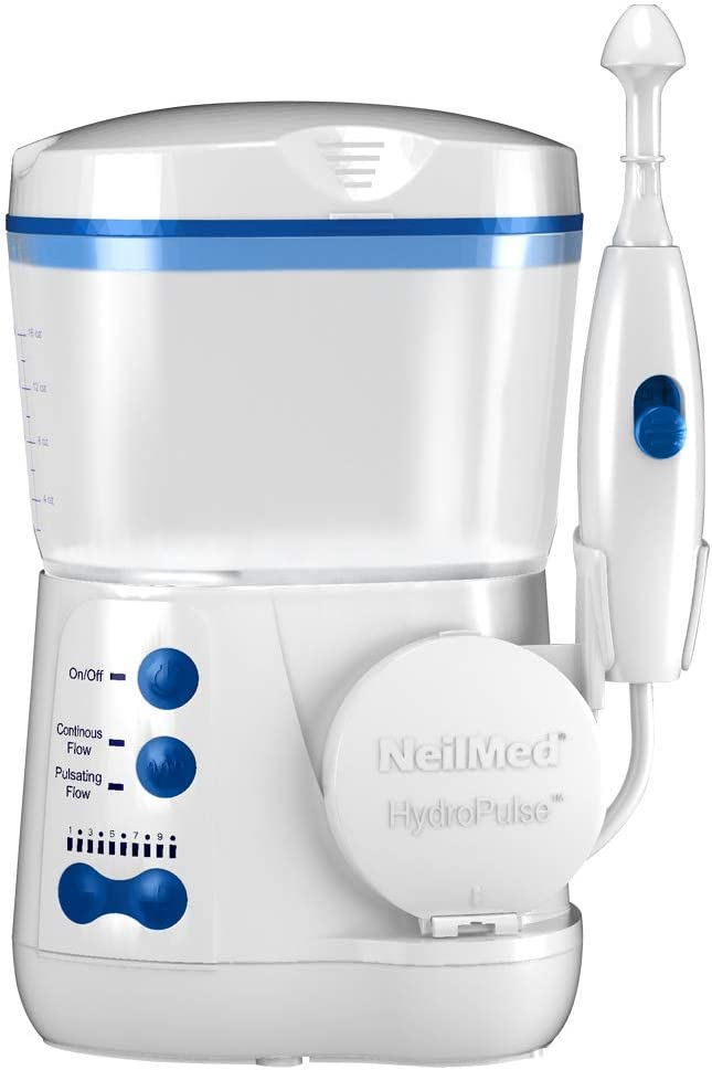 NeilMed Hydropulse. Multi-Speed Electric Pulsating Nasal Sinus Irrigation System, White