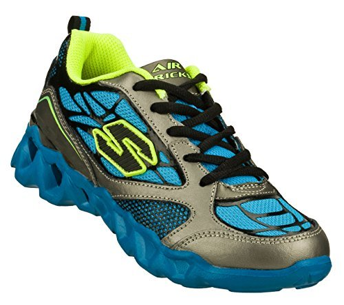 Skechers Boys' Air-Mazing Kid Ory Aneroid,Silver/Blue,US ...
